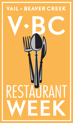 Vail • Beaver Creek Restaurant Week